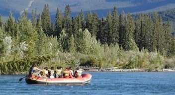Bow River scenic nature float near Banff and Canmore