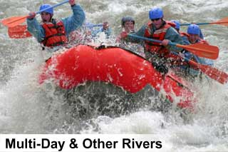 Multi day river rafting trips in the Canadian Rockies
