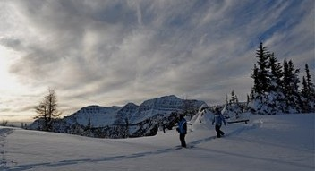 Guided snowshoe tours in Banff National Park