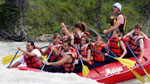 Whitewater rafting in Jasper on the Athabasca River