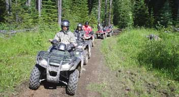 ATV tours in the Canadian Rockies near Golden, British Columbia, Lake Louise and Banff National Park