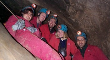 Canmore Caverns guided cave tours at the Rat's Nest Cave near Canmore, Alberta