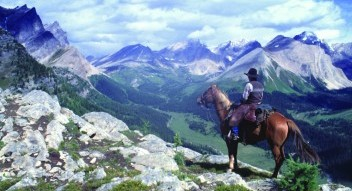 Guided horseback trail rides near Banff National Park