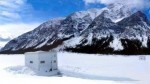 Ice fishing in the Canadian Rockies, Spray Lakes, Banff, Canmore, Kananaskis