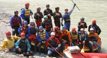 Whitewater river rafting on the Kicking Horse River, Kananaskis River and Bow River Horseshoe Canyon
