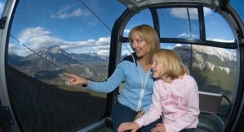 Gondola sightseeing in Banff