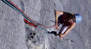Rock climbing lessons in the Canadian Rockies near Banff, Canmore and Lake Louise