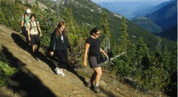 Hiking at Kicking Horse Mountain Resort in Golden, British Columbia