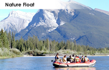 Bow River nature float in the Canadian Rockies