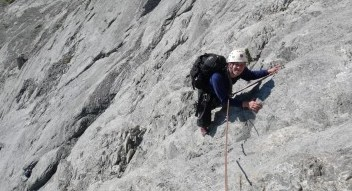 Guided rock climbing and rock climbing lessons in the Canadian Rockies